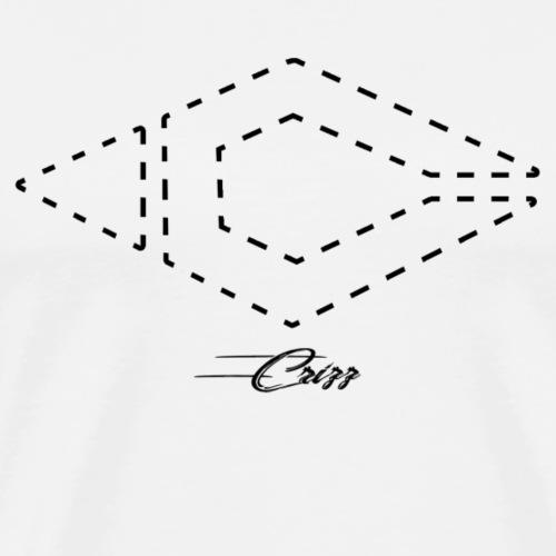 Crizz logo striped black - Mannen Premium T-shirt
