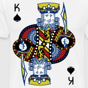 Spar Konge Poker Hold'em - Premium T-skjorte for menn