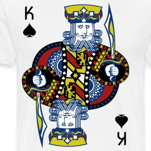 King of Spades Hold'em Poker - Koszulka męska Premium