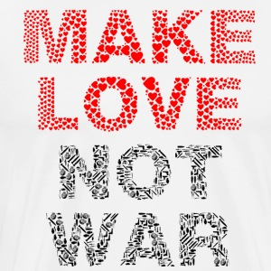 Make Love Not War - Mannen Premium T-shirt