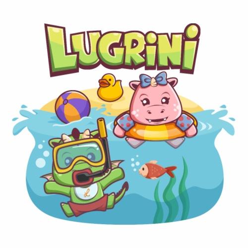 Lugrini und Lugrina schwimmen im Meer. - Männer Premium T-Shirt