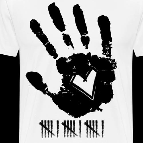 Handprint Heart - Männer Premium T-Shirt