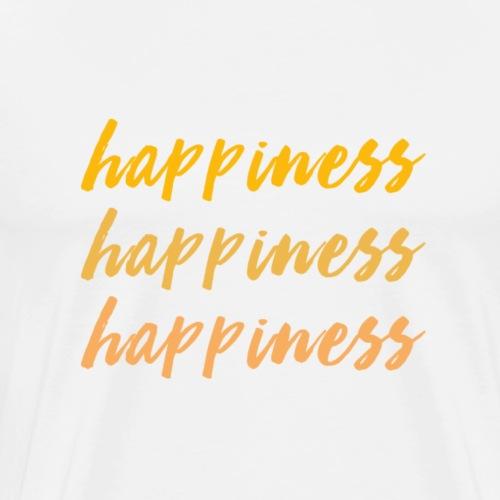 happiness love - Männer Premium T-Shirt