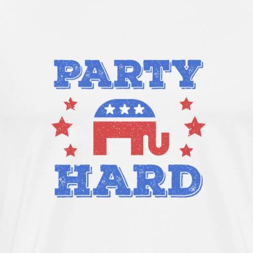 Party Hard - Männer Premium T-Shirt