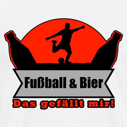 Fußball & Bier Shirt - Geschenkidee - Männer Premium T-Shirt