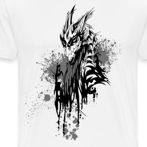 Drache Kleckse schwarz - Männer Premium T-Shirt