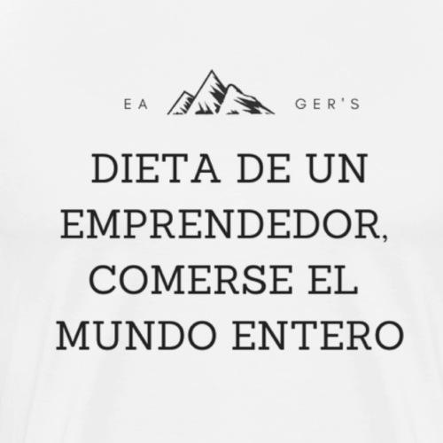 Dieta de un emprendedor, comerse el mundo entero - Camiseta premium hombre