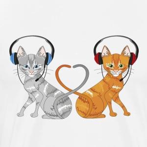 Cats in chat - Men's Premium T-Shirt