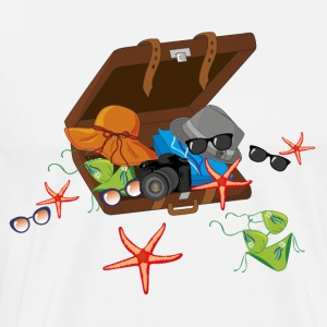 Suitcase summer vacation - Men's Premium T-Shirt
