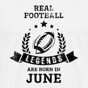 Juni Football Legends - Premium T-skjorte for menn