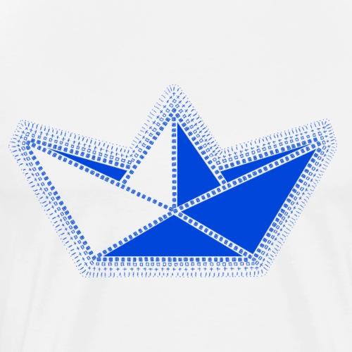voilier bleu en origami. - T-shirt Premium Homme