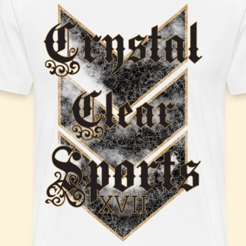 Crystal Clear Sports Wappen - Männer Premium T-Shirt