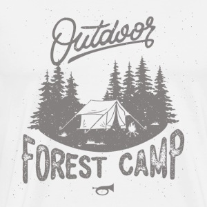 Forest Camp - Premium T-skjorte for menn