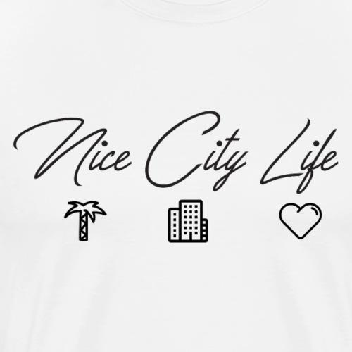NICE CITY LIFE NOIR - T-shirt Premium Homme