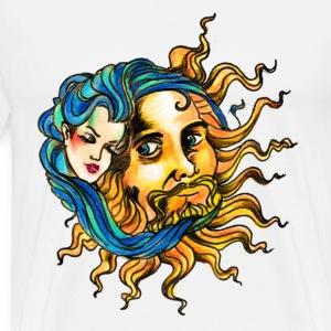 sole luna abbraccio - Maglietta Premium da uomo