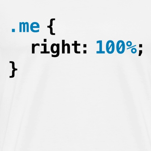 Funny geek - CSS Right 100% | Programmer Nerd Tech - Mannen Premium T-shirt