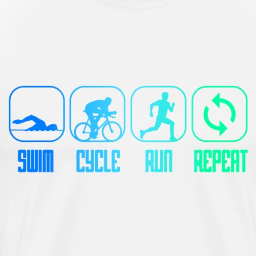 SWIM CYCLE RUN REPEAT - Triathlon - Triathlet - Männer Premium T-Shirt