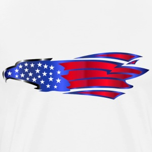 USA Amerika sjunker Stars and Stripes Eagle Adler - Premium-T-shirt herr