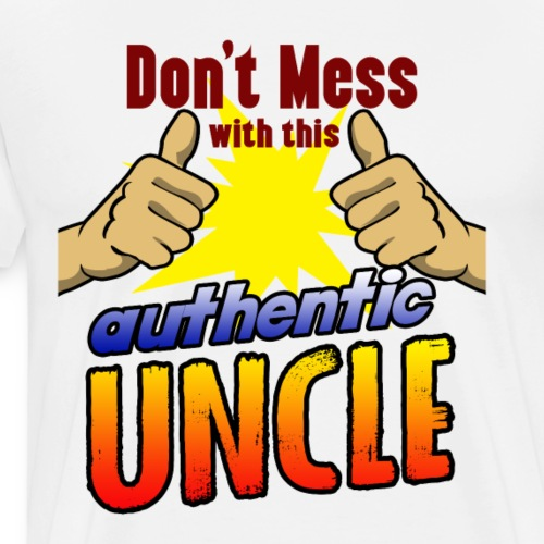 Authentic uncle superhero shirt for birthday - Men's Premium T-Shirt