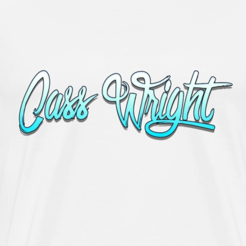 cass wright blue fade text - Men's Premium T-Shirt