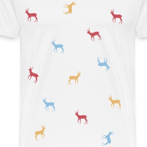 Venados de colores - Camiseta premium hombre