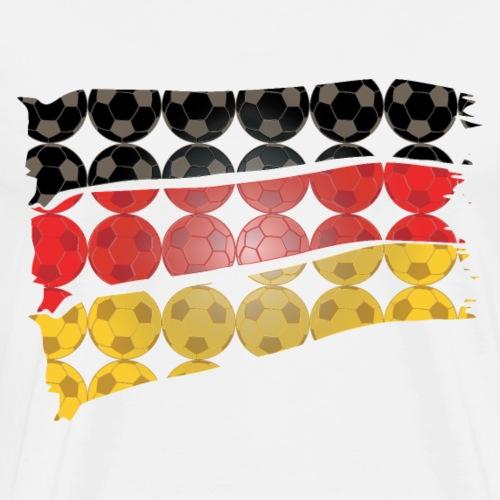 Fusball Flagge Deutschland WM - Männer Premium T-Shirt