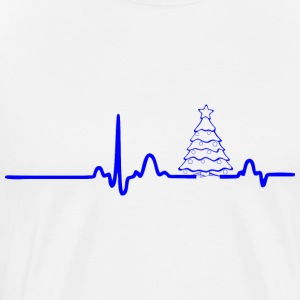 ECG HEART LINE TREE blue - Men's Premium T-Shirt