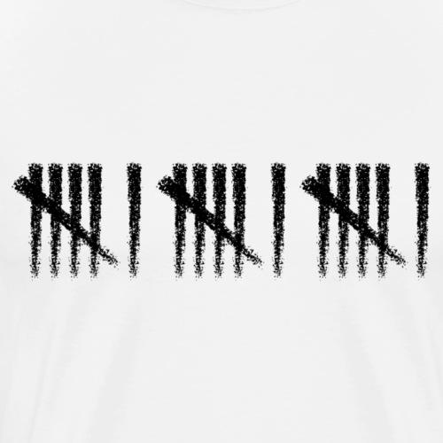 666 Schwarz - Männer Premium T-Shirt