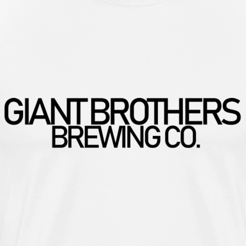 Giant Brothers Brewing co SVART - Premium-T-shirt herr