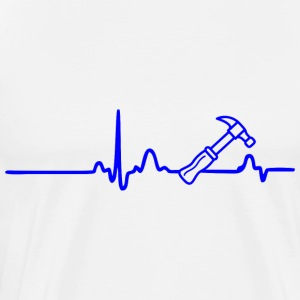 ECG HEART LINE ARTISANS blue - Men's Premium T-Shirt