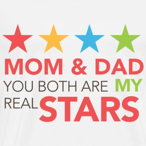 MOM ET DAD REAL STARS - T-shirt Premium Homme