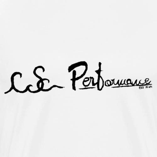 WSC Performance lange Schrift schwarz - Männer Premium T-Shirt