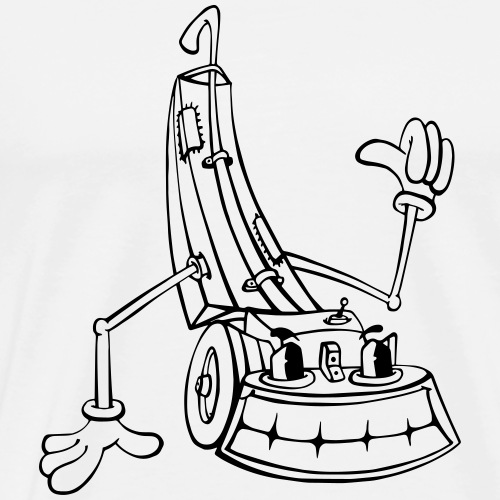 Crazy Staubsauger - Männer Premium T-Shirt