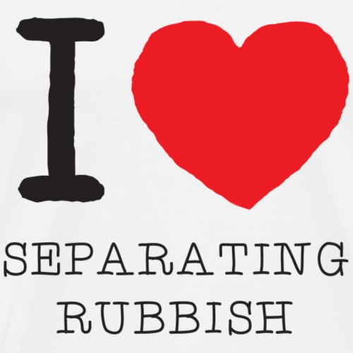 I Heart Separating Rubbish - Männer Premium T-Shirt