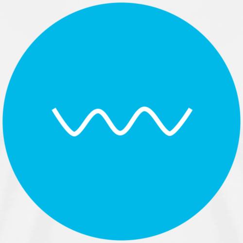 CIRCLE WAVE - Premium T-skjorte for menn