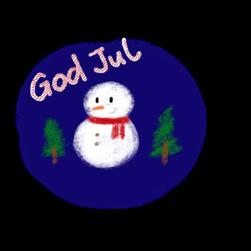 God Jul - Premium-T-shirt herr