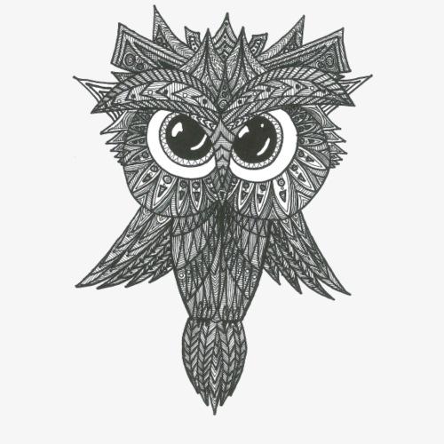 Psychic Owl - Männer Premium T-Shirt