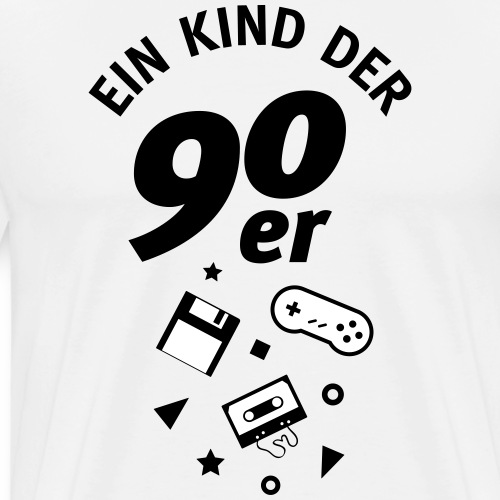 Ein Kind Der 90er - Männer Premium T-Shirt