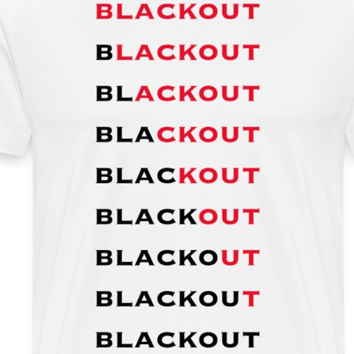 Blackout - Premium-T-shirt herr