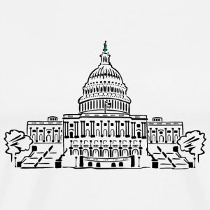 Capitol i Washington - Premium T-skjorte for menn