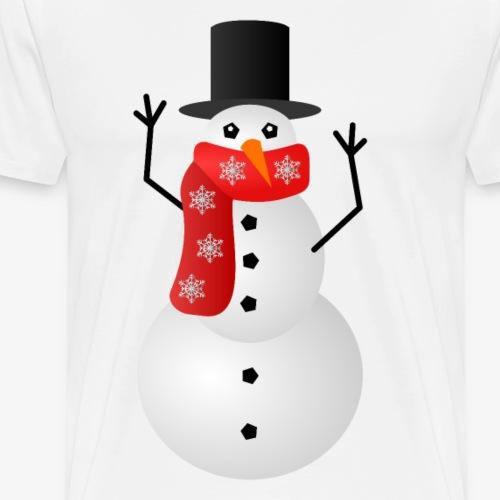 Weihnachtspullover - Schneemann - Männer Premium T-Shirt