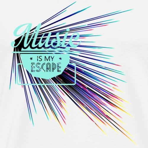 Music is my escape - Männer Premium T-Shirt