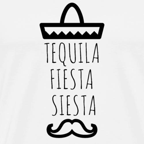 TEQUILA FIESTA SIESTA - Männer Premium T-Shirt