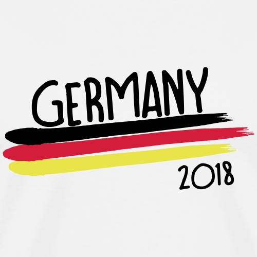 Germany Weltmeisterschaft 2018 Flagge WM T-Shirt - Männer Premium T-Shirt