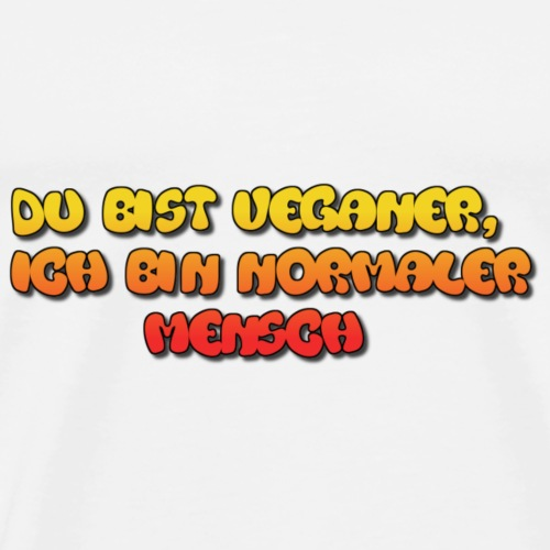 I ♥ Veganer - Männer Premium T-Shirt