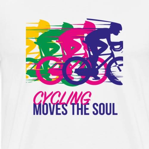 Radfahren bewegt die Seele. - Männer Premium T-Shirt