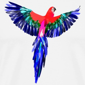 Parrot watercolor - Men's Premium T-Shirt