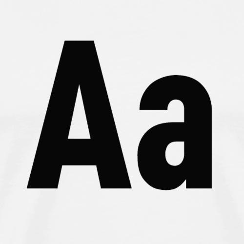 Letters Aa Buchstaben Alphabet - Männer Premium T-Shirt