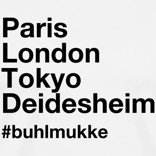 Buhl helv black - Männer Premium T-Shirt