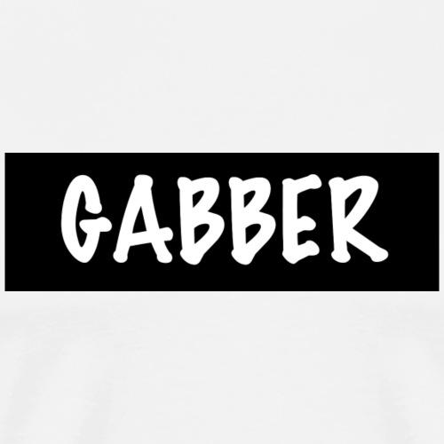 GABBER T-SHIRT (black Design) - Männer Premium T-Shirt